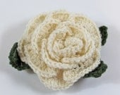 Cream rose for Cystic Fibrosis (65 Roses) research: Pin, clip, or hairclip