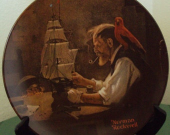 The Ship Builder Norman Rockwell Plate