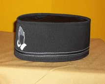 Custom Designed Black and White Prayer Crown with matching Band.Hand  Made in any color combination in any size.