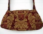 Bohemian Gypsy Bag Purse Burgundy/Deep Red Cut Velvet