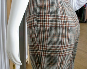 Vintage 1960's Houndstooth Wool Shorts