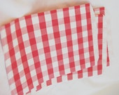 GiNGHaM FaVoR BaGs--REd--party favors--gifts--farm parties--picnics---weddings--showers--24ct
