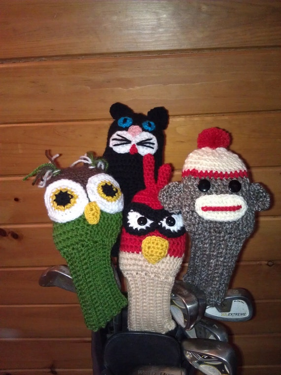 Crochet Patterns Golf Club Covers Free : PATTERN Golf Club Covers Combo Pack by jojoroseanne on Etsy