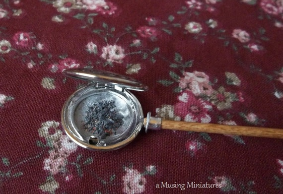 What Is A Victorian Bed Warmer : Victorian bed warmer with coals in inch scale for dollhouse