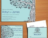 Paisley Family Tree Wedding Collection / Invitation / RSVP / Save the Date Postcard PRINTABLE / DIY