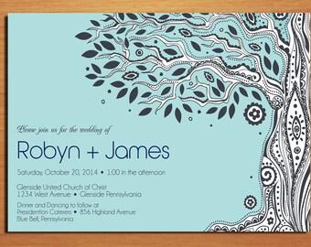 Paisley Family Tree Wedding Invitation PRINTABLE / DIY