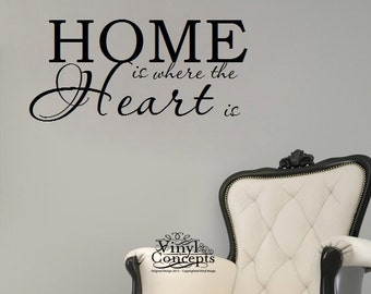 Home is where the heart is - Vinyl Wall Art