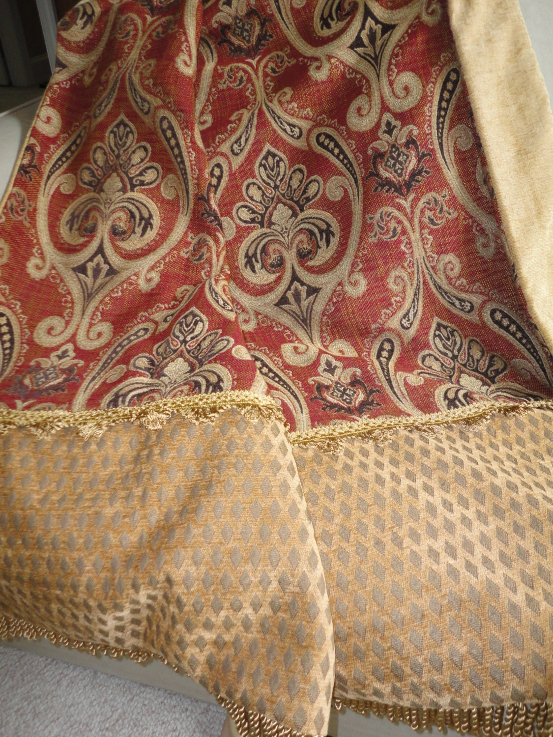Throw Blanket In Rust Gold And Brown Tones One Of A Kind