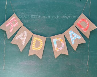 RAD DAD burlap banner