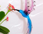 Hummingbird - glass animal figurine