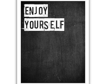 Typographic Print - TITLE Enjoy yourself