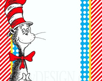 Diy dr seuss baby shower sign templates for Dr seuss birthday card template