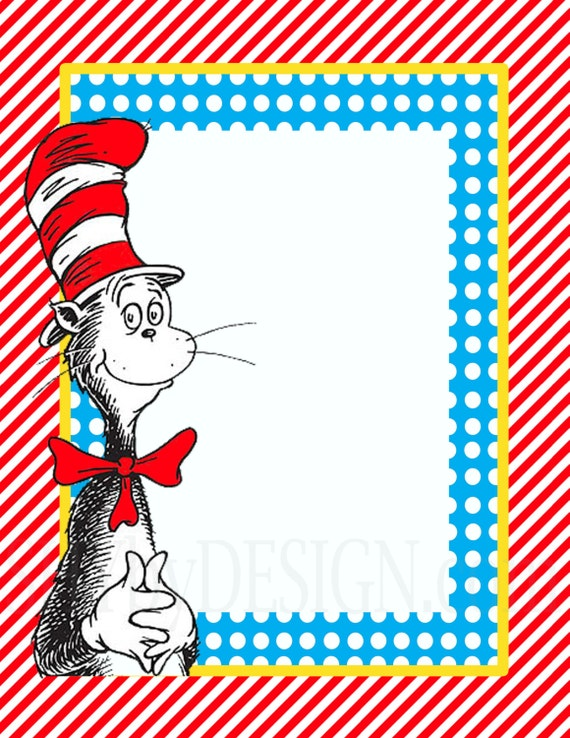 DIY Printable Dr. Seuss Sign Templates