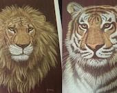 Leopard, Lion, Tiger, Cheetah Print set by M. Brice