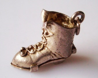 Silver Ladies Boot and Rocking Chair Opening Charm