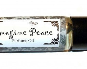 IMAGINE PEACE - Roll on Premium Perfume Oil - 2 sizes to choose from - 1/3 oz or 1/6 oz - white musk/bergamot/jasmine/violet/white lily