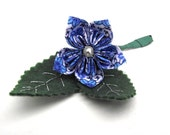 RESERVED Beautiful Boutonnières: China Blue x 2