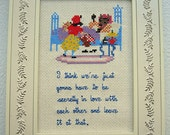 Little Red Riding Hood - Royal Tenenbaums Secret Love Quote - Framed Cross Stitch