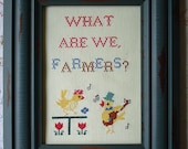 Framed Cross Stitch - 30 Rock - Jack Donaghy, Farmers Quote