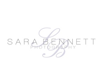 Premade Logo and Watermark for Photographers and Crafty Small Business Purple and Grey Monogram
