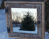 RESERVED for DANIELLE -- Custom Made --  Barnwood Medicine Cabinet