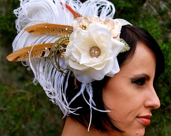 WHITE MAGICK Feather Headdress