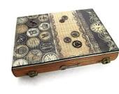 Steampunk Wooden Book Box Drawer