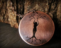 Lady of the Forest - Mother Nature Pendant in Copper