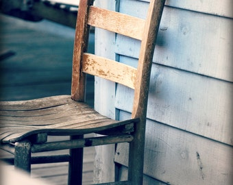 Rustic Chair, Country, Barn, Shabby Chic, Weathered, Antiquity, Vintage 8x12 Fine Art Photography