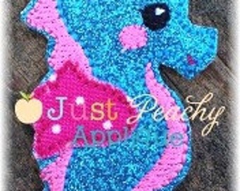 Seahorse 2 Clippie Machine Embroidery Applique Design Buy 2 for 4! Use Coupon Code 50OFF