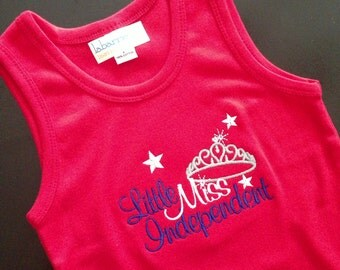 Girls 4th of July Tank Top - Red Size 4- Miss Independent