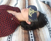 Eye pillow, washable cover, organic cotton and bamboo with lavender and flax - Yoga tool, perfect for Savasana