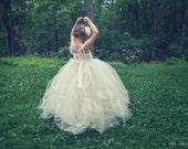 Rose Tulle Flower Girl Dress