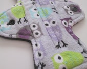 Mama Cloth Pad 8.5 inch - New more Trim and Flexible design - Minky Topped - Bamboo fleece Core - Ready to Ship