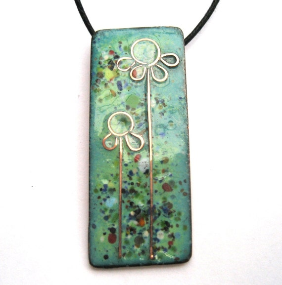 Green 'summer meadow' pendant