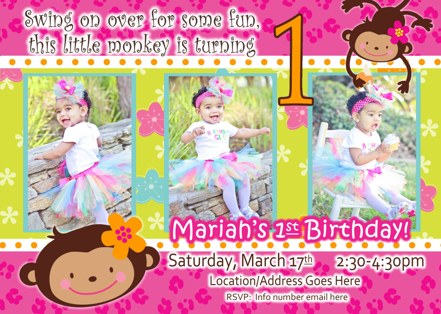 Year Old Birthday Card Gangcraftnet - Birthday invitation wording for a one year old