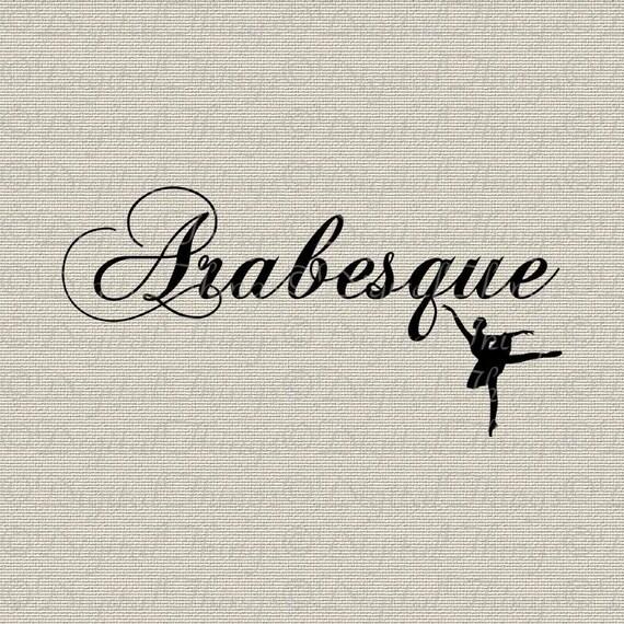 French Ballerina Ballet Arabesque En Pointe Dance Wall Decor Art Digital Download for Iron on Transfer Fabric Pillows Tea Towels DT891
