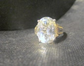 Sterling CZ Ring Sz 10