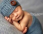 Super Cute baby boy basketweave hat Best ever newborn gift Ready