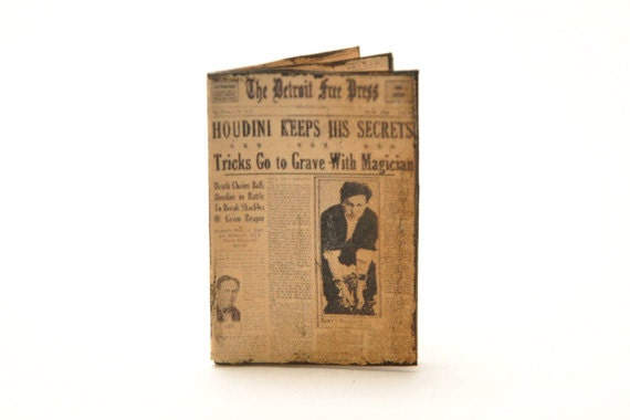 Dollhouse Miniature Newspaper