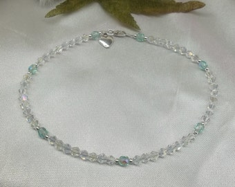 Something Blue Ankle Bracelet Bridal Anklet Wedding Ankle Jewelry Wedding Jewelry Sterling Silver Anklet BuyAny3+Get1Free