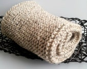READY TO SHIP NEWborn photography prop-thick soft cozzy wool blend baby blanket-rug in brown beige...aprx.2x2 feet, chunky blanket