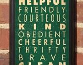 Boy Scout Laws Decorative Vintage Style Wall Plaque / Sign