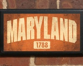 The State of Maryland Customizable Vintage Style Wall Plaque / Sign Decorative & Custom