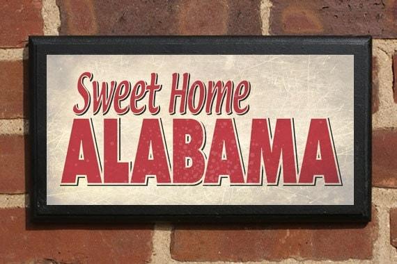 Alabama Sweet Home AL Wall Art Sign Plaque Gift Present Home