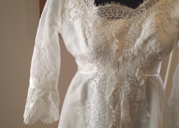 Vintage wedding dress white custom made 1950 39 s dallas to for Custom made wedding dresses dallas