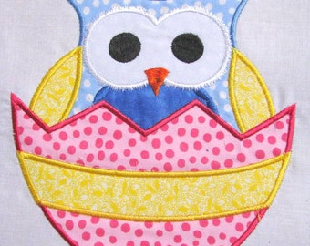 Easter Bunny Owl 02 Machine Applique Embroidery Design - 4x4, 5x7 & 6x8