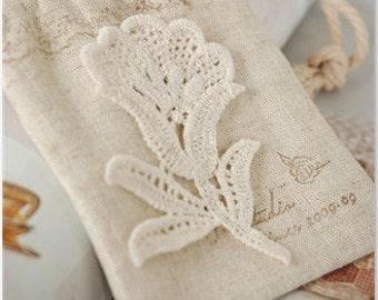 Retro Lace Applique, Lovely Tulip Flower Applique, Wedding Bouquet Lace Appliqiue 2 's