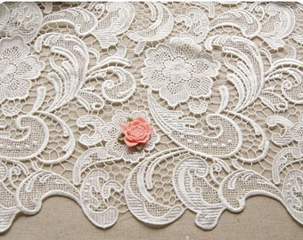 reserved for D -Off White Lace Fabric, guipure lace fabric, venise lace fabric, crochet lace fabric, ivory lace fabric, bridal lace fabric