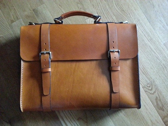 handmade leather briefcase made in usa items similar to leather briefcase handmade in the usa 3513